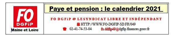 F.O. DGFiP 049, le site de la section du MAINE ET LOIRE du