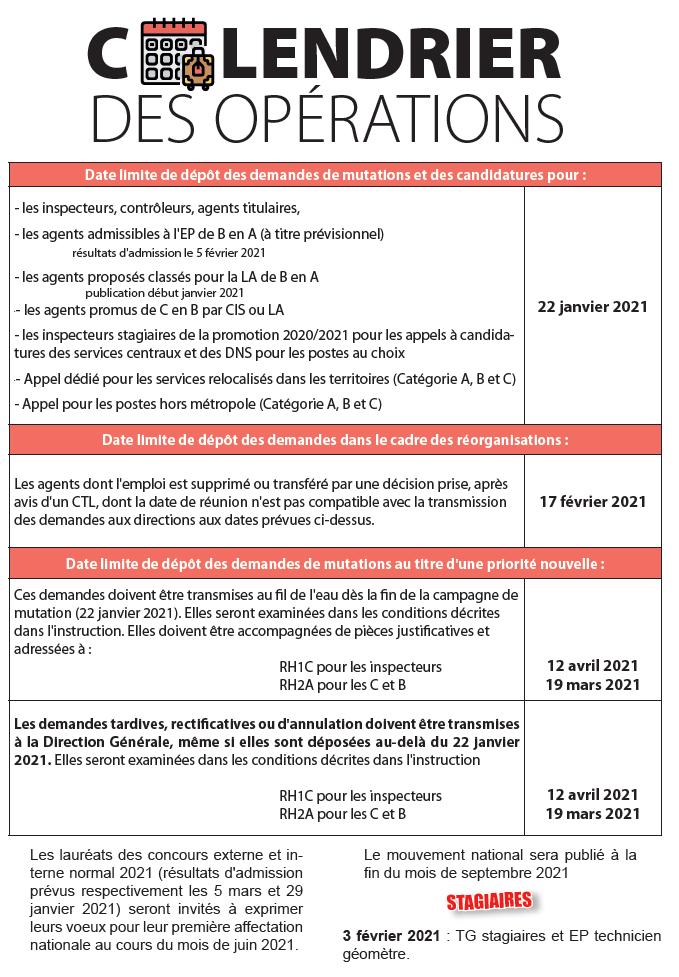 Calendrier Mutation Dgfip 2022 F.O. DGFiP 63, le site de la section du PUY DE DÔME du syndicat FO