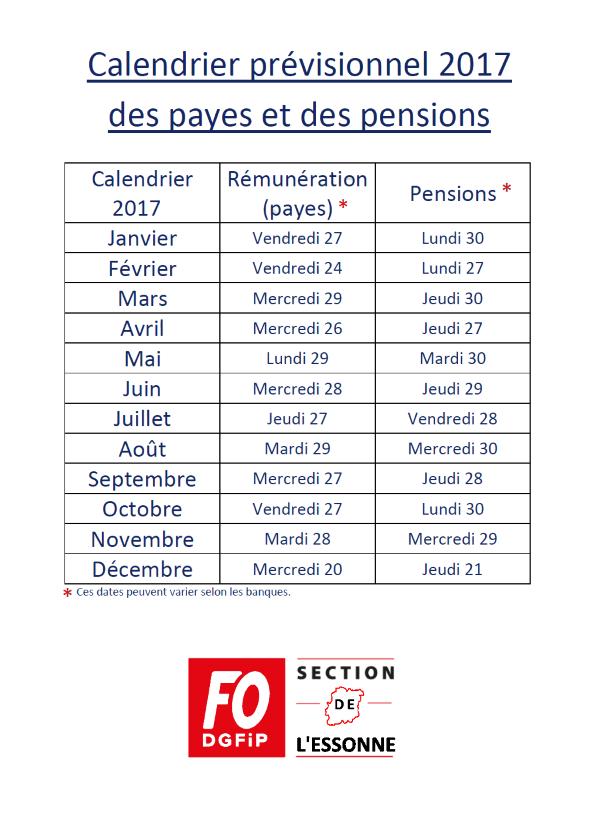 Calendrier Paie Dgfip.F O Dgfip 93 Le Site De La Section De La Seine St Denis Du
